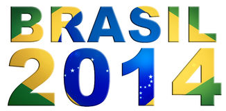 Il Brasile Logo Design 2014 Fotografie Stock Libere da Diritti