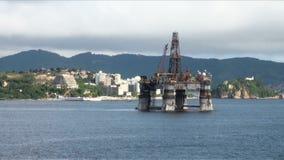 Il Brasile - olio Rig In Rio de Janeiro archivi video