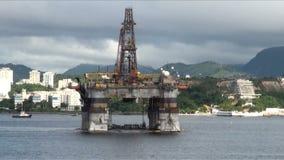 Il Brasile - olio Rig In Rio de Janeiro video d archivio