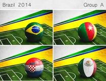 Il Brasile 2014, raggruppa A Immagini Stock