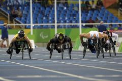 Il Brasile - Rio De Janeiro - gioco paralimpico 2016 un'atletica dei 1500 tester Immagine Stock