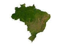 Il Brasile su priorità bassa bianca Immagine Stock