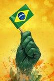 Il brasiliano smazza il patriota illustrazione vettoriale