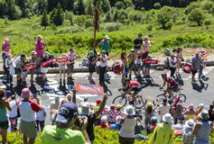 Il breakaway in montagne - Tour de France 2016 Fotografia Stock