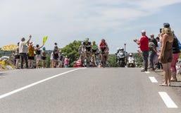 Il breakaway - Tour de France 2017 Fotografia Stock