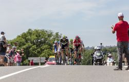 Il breakaway - Tour de France 2017 Immagine Stock Libera da Diritti