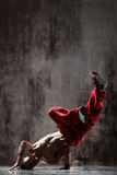 Il breakdancer Fotografie Stock Libere da Diritti