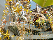 Il bronzo dell'argento dell'oro stars la decorazione Immagini Stock