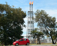Il Brunei. Raffineria del petrolio greggio Immagine Stock Libera da Diritti