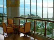 Il Brunei. Vista del balcone di area di riposo Fotografia Stock