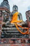 Il Buddha a Ayutthaya Tailandia Fotografie Stock Libere da Diritti