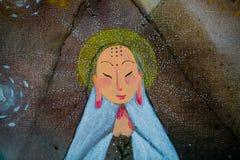 Il Buddha della porcellana Fotografia Stock