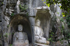Il Buddha di area scenica di Lingyin immagine stock libera da diritti