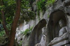 Il Buddha di area scenica di Lingyin fotografia stock