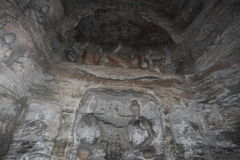 Il Buddhas del monastero della caverna di Yungang di Datong Fotografie Stock