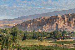 Il Buddhas di Bamiyan Fotografia Stock