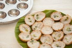 Il budino della noce di cocco è un genere di dolciumi tailandesi. Immagini Stock