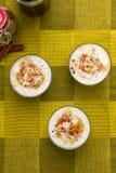 Il budino di riso lancia vista superiore fotografie stock libere da diritti
