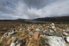 Il buio delle montagne si appanna la Scozia Immagine Stock Libera da Diritti