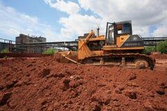 Il bulldozer pesante della costruzione Fotografia Stock Libera da Diritti
