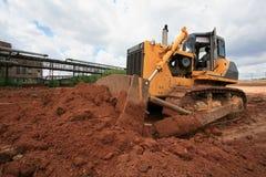 Il bulldozer pesante della costruzione Immagini Stock Libere da Diritti