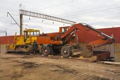 Il bulldozer pesante della costruzione due Fotografia Stock