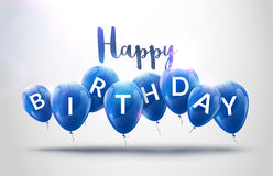 Il buon compleanno balloons la celebrazione Progettazione della decorazione della festa di compleanno Baloons festivi che segnano Immagine Stock