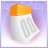 Il buon compleanno sradica il calendario Fotografia Stock Libera da Diritti