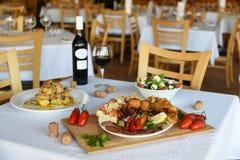 Il buon gusto di cibo al ristorante Fotografie Stock