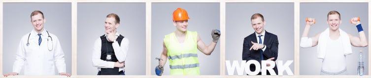 Il buon impiegato è un impiegato contento! Immagine Stock