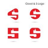 Il buon logo e logo dell'estratto dell'icona della lettera di s progettano Fotografia Stock Libera da Diritti