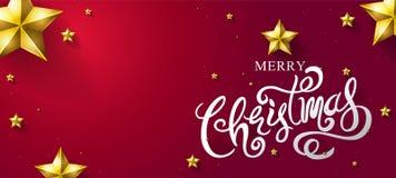 Il Buon Natale & il buon anno 2018, calligrafici, scrivono, Vecto Fotografia Stock