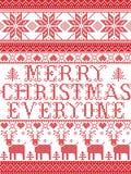 Il Buon Natale del modello di Natale ognuno modello senza cuciture del canto natalizio ha ispirato entro l'inverno festivo della  illustrazione vettoriale