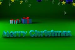 Il Buon Natale dell'iscrizione Immagine Stock