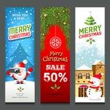 Il Buon Natale, insegne progetta le collezioni verticali illustrazione vettoriale