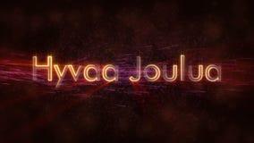 Il Buon Natale manda un sms a nell'animazione finlandese del ciclo di Hyvaa Joulua sopra fondo animato scuro video d archivio