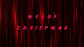 Il Buon Natale testo luminoso e le precipitazioni nevose, 3d rendono il fondo, computer che genera per la progettazione festiva d royalty illustrazione gratis