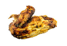 Il buongustaio ha arrostito il petto di pollo isolato su bianco Fotografia Stock