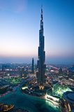 Il Burj Khalifa nel Dubai fotografie stock