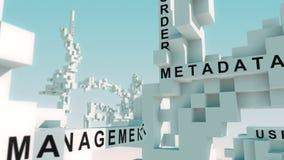 Il business intelligence esprime animato con i cubi illustrazione di stock
