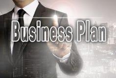Il business plan è indicato dal concetto dell'uomo d'affari fotografia stock libera da diritti