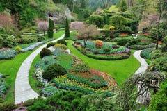 il butchart fa il giardinaggio bc Victoria fotografia stock