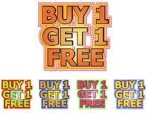 Il Buy 1 ottiene 1 libero illustrazione vettoriale
