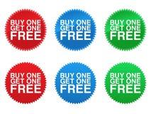 Il Buy uno ottiene uno le guarnizioni libere royalty illustrazione gratis