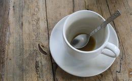 Il caffè bevente è finito. Immagini Stock Libere da Diritti