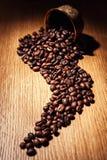 Il caffè, chicchi di caffè, ha arrostito il caffè, chicchi di caffè arrostiti, coff Immagini Stock Libere da Diritti