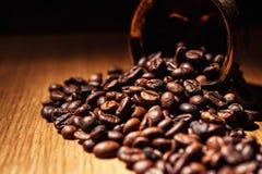 Il caffè, chicchi di caffè, ha arrostito il caffè, chicchi di caffè arrostiti, coff Fotografie Stock
