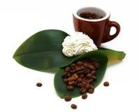 Il caffè con screma Fotografia Stock