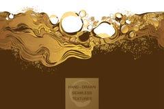 Il caffè, cosmetico, bolle struttura senza cuciture di vettore del fondo astratto Immagine Stock