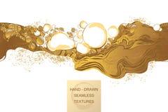 Il caffè, cosmetico, bolle struttura senza cuciture di vettore del fondo astratto illustrazione di stock
